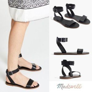 NWT Madewell Boardwalk Ankle Strap Leather Sandal
